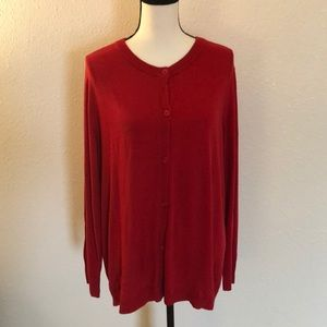 Lane Bryant Red Cardigan Size 18/20